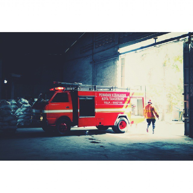 preparing for action  #firefighter #firebrigade #hero #red #redmi #xiaomi #redminote #spekology